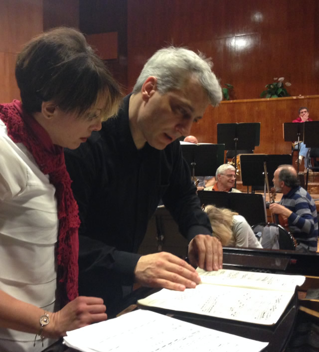 At Rehearsals With Plovdiv Philharmonic Orchestra With Conductor Luciano Di Martino Plovdiv / Bulgaria 04/22/2015