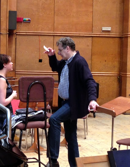 After Rehearsal With Conductor Dejan Savic With Sofia Philharmonic Orchestra